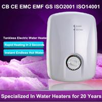 Wholesale Electric Hot Water Kitchen - Instant Electric Water Heating 5500W Mini Tankless Electric Water Heater Immersion Hot Shower Bathroom Kitchen UnderSink Wash Basin Boiler