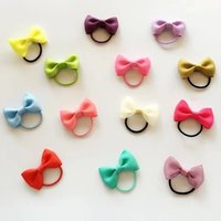 Wholesale rubber chemicals online - Mini Butterfly baby hair rope ring for rubber band capitatum less hair does not damage the hair elastic thumb