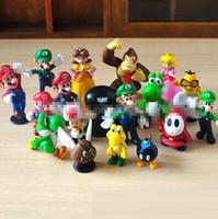 Wholesale Play Mario Bros - 14styles New Genuine Super Mario Bros yoshi Figure dinosaurand roid watchtoys Figure play SuperMario toys doll Free Shipping