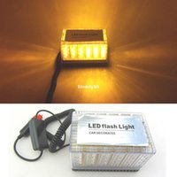ingrosso il tetto lampeggia-Amber 48 LED Car Truck Roof Top Emergenza Hazard Warning Strobe Flash Light Lampada