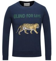 Pullover blind factory - Factory Brand Tiger Sweatshirt Blind For Love Fashion Mens Hoodies Jumper Sweatshirts Cotton Men Jacket Coat Pullover Sports Tracksuit