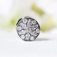 Nouvelle collection Real 925 Sterling Silver Radiant Bloom, Clear CZ Charms For Original Bracelets Bricolage Bijouterie
