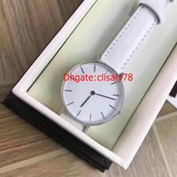 Wholesale Military Leather Watch Bands - New Version! 32mm White Band Luxury Watch classic Casual leather Sports Watches Men Women Military Quartz Watch Relogio Masculino