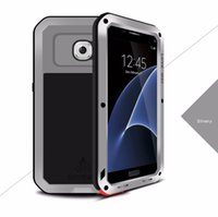 Wholesale Love Mei Aluminum Case - For Samsung Galaxy S7 G9300 Luxury Love Mei Powerful Cell Phone Case Waterproof Shockproof Aluminum Case Cover Tempered Glass free shipping
