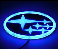 emblèmes de logo de voiture led achat en gros de-Super Bright Voiture Logo Autocollant 4D Styling Lumière Décorative Arrière De La Voiture Badge Emblème Logo avec LED Lumière Pour Forester XV Legacy Tribeca Outba