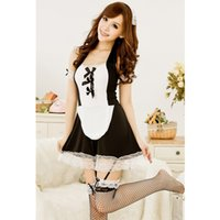 Wholesale Lovely Underwear Sex - 2017 Sexy Costumes Lingerie Underwear For Women Lovely Female Maid Game Uniform Classical Lace Dress Sex Products Cosplay 7046