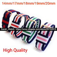 Wholesale 18mm Nylon Strap - 12mm 14mm 17mm 18mm 19mm 20mm Nylon Strap Belt