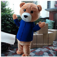 Wholesale Cheap Plus Size Teddies - teddy bear mascot costume free shipping, cheap high quality carnival party Fancy plush walking bear mascot adult size.