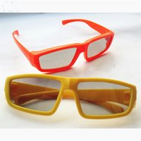 Wholesale Kids D Glasses - Kid 3D glass Children 3D glasses garden of polarized 3 d glasses passive film polarimetric TV 3D glasses