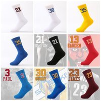 Wholesale tall stars - Tall Tube Star Digital Sock Sports Socks Stockings Basketball Football Towel Stocking Perspiration Wearable Breathable Thicker 7 5rz