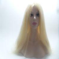 hint remy insan saç sarışın toptan satış-# 613 Sarışın Düz Bakire Hint Remy Saç İnsan Saç 100% Ön / Tam dantel peruk ÖZEL Insan Saçı Yapılan Tam Dantel Peruk / Peruk KABELL PERUK JEWS