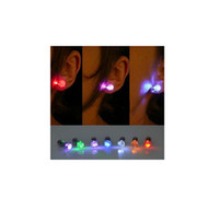 Wholesale Lighted Clip Earrings - Multi Colors 6 Pair LED Earring Light Up Bright Stud Earrings Glowing Ear Stud For DJ Dance Party Bar Girl Women&Men