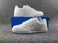 Wholesale White Elastic Shoe Laces - Yezee Calabasas Powerphase Casual Shoe Kanye West Calabasas Men Women Sneakers White leather upper with lateral Calabasas Shoes Wholesale