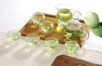 Wholesale Heat Resistant Glass Cups - 8pcs set New arrival heat resistant glass teapot set 1pcs 250ml teapot+1pc 200ml tea cup+6pcs 50ml double cup g1133