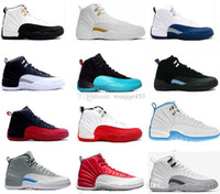 Wholesale Pink Rose Boots - 2017 cheap Basketball Shoes air retro 12 man TAXI Playoff ovo white Gray Black Gym barons cherry RED Flu Game sports sneakers boots