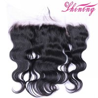 Wholesale malaysian body wave frontals - Top 9A Lace Frontal Brazilian Virgin Hair 100% Body Wave Lace Frontal With Baby Hair Human Hair Natural Hairline And Pre Plucked Frontals
