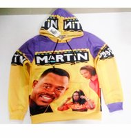 Wholesale Hoody Custom - Real USA Size 2 Styles Martin 3D Sublimation print custom made Hoody   Hoodie Plus Size