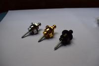 замки для акустической электрогитары оптовых-2шт Шаллер стиль Straplock электрическая акустическая гитара бас ремень кнопки блокировки, хром / черный / золото