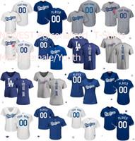Wholesale Star T - 17 Men's Women's Kids' Los Angeles Dodgers Star Custom Grey Blue White Home Road Alternate Cool Flex Baseball Jerseys T-shirt Backer T-shirt
