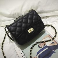 sacos de marca couro europeu original venda por atacado-Clássico europeu e Americano cadeia de Diamante Malha de couro mini mulheres de alta qualidade original da marca bolsa de marca bolsa de grife