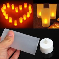 Vente De Bougies Pas Cher-Vente en gros- Hot Sale LED Candle Light Electronic Flameless Switch Bougie Jaune Couleur Night Light With Cup