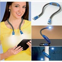 Wholesale Portable Huglight LED Flexible Light Over Neck Book Reading Hug Lamp Night Lights Book Reading Lamp Free