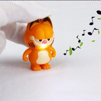 Wholesale Teenage Wholesale Decorations - Wholesale- Garfield Cute LED Lighting Teenage Toys With Sound Children Kids Decoration Present Gift TY0037