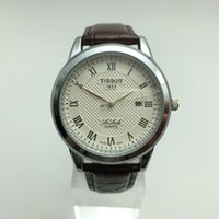 Wholesale Men Leather Band Quartz Watches - 41 mm Dial Swiss Luxury Brand 1853 Men's watch 3ATM Waterproof High Quality Leather Band Replica Watch For Man Fashion Casual Dress Watches