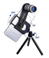 Wholesale Iphone 4s Lens Kit - High Quality 8x Zoom Telephoto Phone Lens For iPhone 6 6plus 5s 5 4s 4 Samsung S6 S5 Optical Telescope Camera Kit + Mini Tripod Free DHL