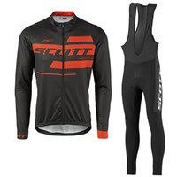 Wholesale Scott Long Sleeve Jersey Set - 2017 scott new cycling jersey long cycling clothes mountain bike jersey wear long sleeve bib set China