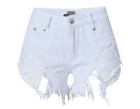 Wholesale Mini Short Jeans Female - 2017041608 Mini shorts sexy ripped short jeans female 2017 summer dark blue hole hot shorts Low waist denim shorts women bottoms