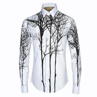 3d moda boya toptan satış-Yeni Varış Moda Marka Erkek 3D Soyut Resim Baskı Gömlek Tarzı 3D Gömlek Uzun Kollu Yüksek kaliteli malzeme Elbise Gömlek