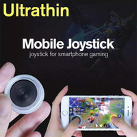 Wholesale Joypad Ipad Games - Ultrathin Mini Mobile Joystick Samrtphone Game Joypad Controller 3rd Genertaion Wireless Rocker Sucker Touch Screen Joysticks for ipad Phone