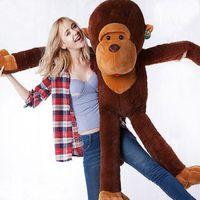 Wholesale Huge Stuffed Monkey Plush - Wholesale- 2016 New Cute Stuffed Giant 130CM Big Brown Plush,Monkey Huge Soft 100% Cotton Doll Toy Children's Toys