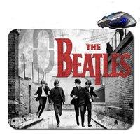 computador livre mouse pads venda por atacado-Os Beatles Logo Frete Grátis New Arrival 18 * 22 cm / 25 * 20 * cm / 25 * 29 cm Não-slip Borracha Mouse Pad Computador Gaming Mouse Pad