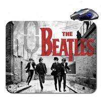 ingrosso trasporto del rilievo del mouse-The Beatles Logo Spedizione Gratuita Nuovo Arrivo 18 * 22 cm / 25 * 20 * cm / 25 * 29 cm antiscivolo In Gomma Mouse Pad Computer Gaming Mouse Pad