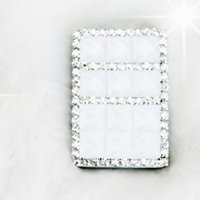 Wholesale Cute Lighters - Wholesale- set drill shine lovely sexy colorful light home house rhinestone cute charging USB cigarette lighter high level smokers lighters