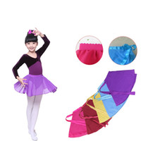 Wholesale School Girl Skirts - Cute girls dancewear Dance skirt Students performance clothing Chiffon Ballet skirt dress for Pupil middle school Summer 2017 Multi colors
