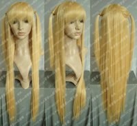 Wholesale Death Note Cosplay Wigs - Wholesale free shipping >>>> Death Note Cosplay Amane Misa Long Blonde Wig