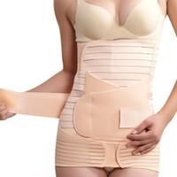 Wholesale Postpartum Support Belt - Wholesale- Kimisohand 3 In 1 Woman Elastic Postpartum Postnatal Recoery Support Girdle Belt Maternity Shapewear