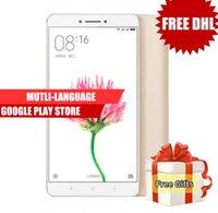 Wholesale Xiaomi Mi Dual Sim - Dhl Free Original Xiaomi Mi Max Prime 6.44 Inch 4850mAh 4G LTE 32GB 64GB 128GB Snapdragon 650 Hexa Core 1920x1080P Fingerprint ID