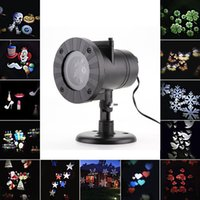 All'ingrosso- Outdoor LED Laser Stage Chrismas Party Light 12-Patterns Proiettore di fiocco di neve Luce decorazione # 256169
