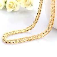 Wholesale Tight Necklaces - Cindiry Europe Fashion Chains Necklace Imitation 24K Gold Necklaces Jewelry Figaro Male Long Necklace Tight gold chain Feijarot necklace