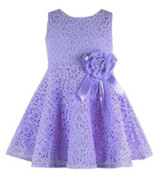 Wholesale Kids Noble Fairy Dress - Wholesale- Summer New girls kids Children noble fairy bow princess lace dress high quality 101