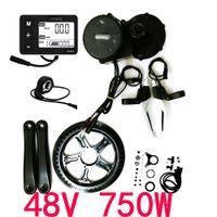 Wholesale Ebike Kits - 48V 750W 8fun Bafang Mid Drive Central Motor 2016 BBS02B Crank Motor Eletric Bicycles Trike Conversion DIY Ebike Kits with C963 LCD Display
