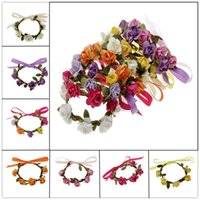 Wholesale Red Velvet Material - Fashion hawaii summer beach rose bracelets Wedding bracelet for Bride ribbon velvet material fashion jewelry wholesale