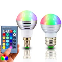 E27 E14 LED 16 Changement de couleur RGB rgbw Lampe à ampoules 85-265V RGB Led Light Spotlight + IR Remote Control