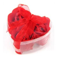 Wholesale Wholesales For Soap Gifts - Promotional Hand and Bath Soap New 3pcs box Romatic Heart-shaped Flower Gift Petals Bathing Handmade Rose Soap for Wedding Souvenir