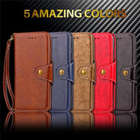 Wholesale Luxury Retro Leather Wallet S4 - Luxury Flip Wallet leather case Business Vintage Retro skin cover card For Samsung S8 Plus S7 S6 EDGE S5 S4 A3 A5 A7 2017 J3 J5 J7 2016