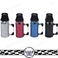 Wholesale Breather Catch Tank - VHQ Universal Aluminum Oil Reservoir Catch Can Tank with Breather wholesale universal fitment